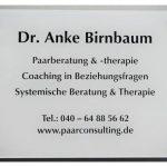 Praxis Dr. Anke Birnbaum Türschild